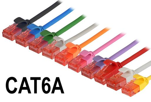 CAT6A ULTRA THIN UTP ETHERNET PATCH CABLE