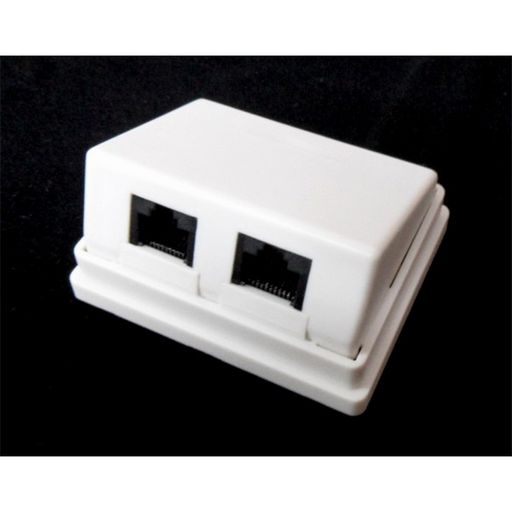 CAT5 SURFACE MOUNT BOX - ANGLED