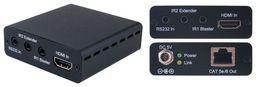 HDMI V1.4 OVER SINGLE CAT5E/6 EXTENDER WITH IR & RS232