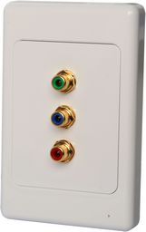 WALL PLATE COMPONENT VIDEO CAT5