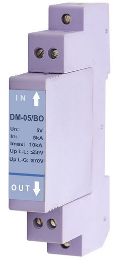 LOW VOLTAGE SURGE PROTECTOR FOR DIN RAIL MOUNTING