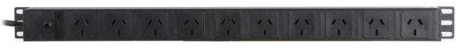 VERTICAL 10x 10A GPO OUTLETS PDU - 610MM