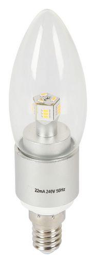 4W CANDLE SHAPE LED LIGHT BULBS - E14 BASE