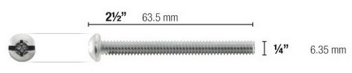 SUITABLE SCREWS FOR TOGGLER 1/4