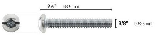 SUITABLE SCREWS FOR TOGGLER 3/8