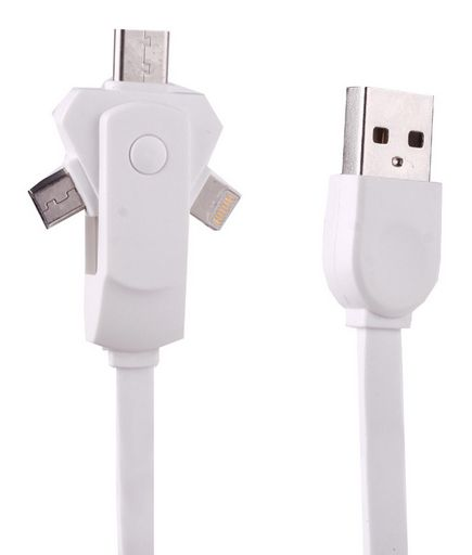USB FAST CHARGING CABLE WITH 3 CONNECTORS
