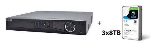 NETWORK VIDEO RECORDER 24 CHANNEL - VIP VISION 320MBPS PoE