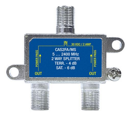 2 WAY F-TYPE SPLITTER 5-2400MHz FOXTEL