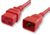 IEC C19 TO C20 EXTENSION 15A - RED