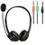 HEADSET WITH BOOM MIC - 2X 3.5MM PLUGS