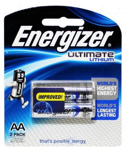 """LITHIUM """"AA"""" DOUBLE PACK"""