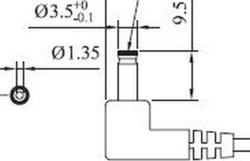 DC LEAD 1.3mm SHORT*