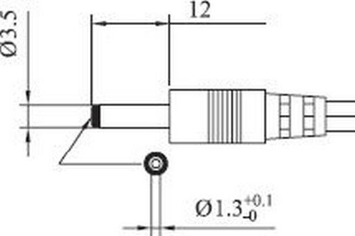 DC LEAD 1.3mm LONG*
