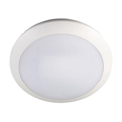 16W LED OYSTER LIGHT 300mmØ - INTELLIGENT WITH BACKUP BATTERY