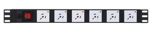 HORIZONTAL POWER RAIL SURGE PROTECTION - 6 WAY 10A GPO PDU - 10A GPO INPUT - GPO-LOCK™