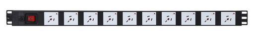 VERTICAL POWER RAIL SURGE PROTECTION - 10x 10A GPO PDU - 730MM - 10A GPO INPUT - GPO-LOCK™
