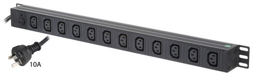 VERTICAL 12x IEC C13 OUTLETS PDU - 610MM
