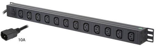 VERTICAL 12x IEC C13 OUTLETS PDU - 610MM