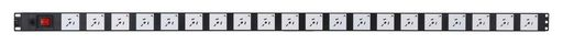 VERTICAL POWER RAIL SURGE PROTECTION - 20x 10A GPO PDU - 1320MM - 15A GPO INPUT - GPO-LOCK™