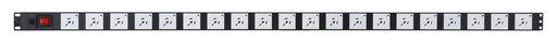VERTICAL POWER RAIL SURGE PROTECTION - 20x 10A GPO PDU - 1320MM - 16A C20 INPUT - GPO-LOCK™