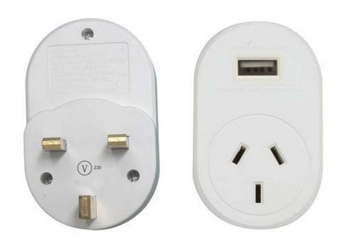 OUTBOUND USB 1A TRAVEL ADAPTOR UK