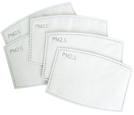 REPLACEMENT WASHABLE PM2.5 FILTERS FOR CLOTH FACE MASKS