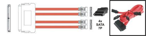 HARD-DRIVE CABLE - SAS 32P TO SATA 7P [X4]