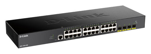 28-PORT GIGABIT SMART MANAGED SWITCH WITH 24 RJ45 AND 4 SFP+ 10G PORTS