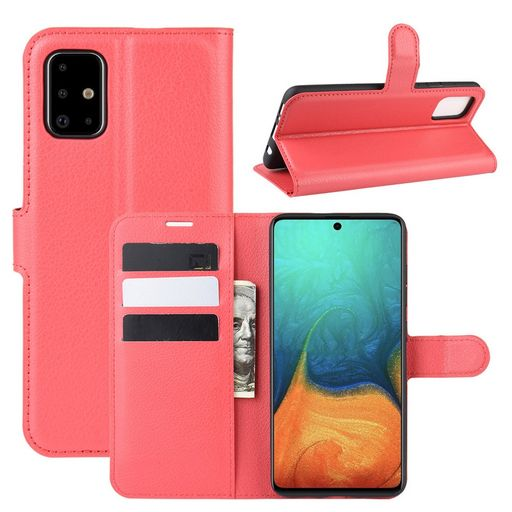 HORIZONTAL LEATHER CASE WITH CARD HOLDER FOR GALAXY A71