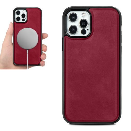 LEATHER AND TPU MAGNETIC RING CASE