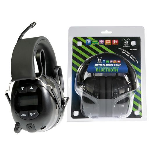 BLUETOOTH AM/FM & PTL EARMUFFS