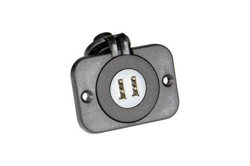 Panel mount dual USB socket