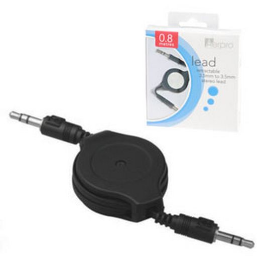 3.5mm To 3.5mm Retractable Stereo Lead 0.8m