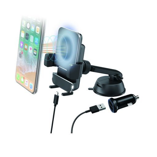 QI WIRELESS CHARGER WITH SUCTION MOUNT