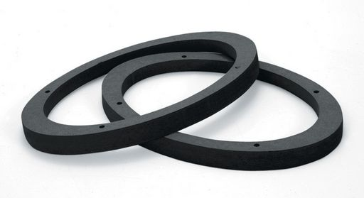 16mm THICK SPEAKER SPACERS BLACK PAINTED