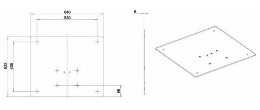 OPTIONAL FLOOR BASE FOR WALL COLUMN