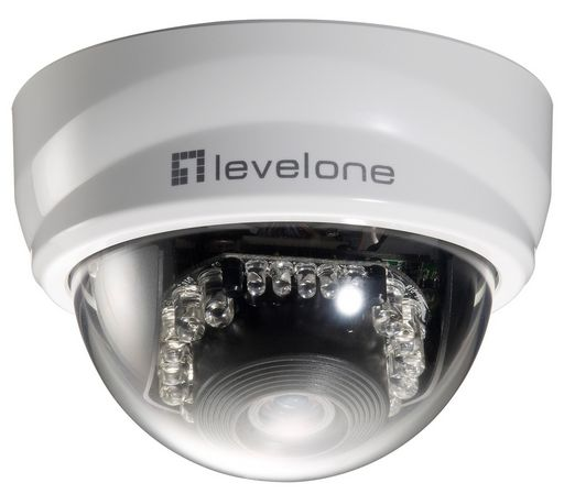 IP CAMERA DOME WITH IR LEDs - LEVELONE 2M
