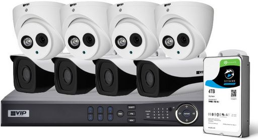 8 CHANNEL 8MP FIXED LENS IP KIT - VIP