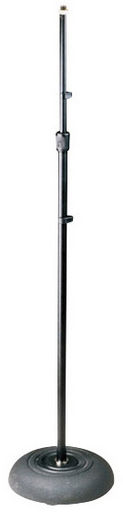 MICROPHONE TELESCOPIC FLOOR STAND WITH ROUND BASE