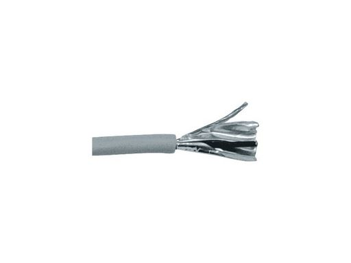 MICROPHONE CABLE - INSTALLATION 100M ROLL 2 X 0.34MM² 5MM O.D. ALUMINIUM FOIL SHIELD. GREY