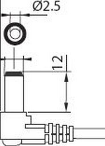DC LEAD 2.5mm LONG*