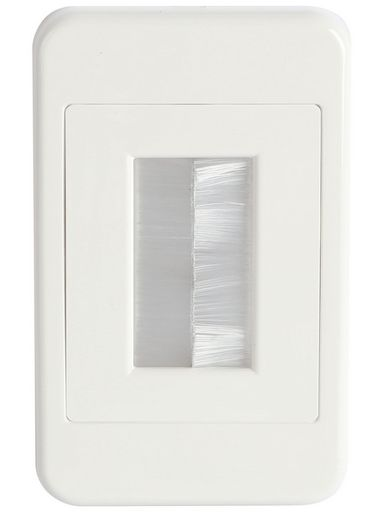CABLE BRUSH WALL PLATE