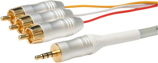 3.5mm QUAD A/V LEAD - WHITE PEARL