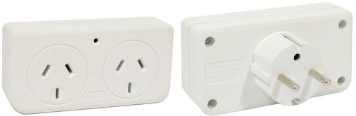 .DOUBLE OUTBOUND TRAVEL ADAPTOR EUROPE