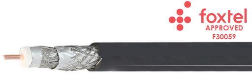 75Ω RG6 QUAD-SHIELDED COAX CABLE FLOODED FOXTEL® APPROVED