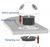 ELSAFE PLUTO AC + USB + RJ45 IN-DESK