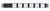 HORIZONTAL POWER RAIL WITH SPD - 6 WAY 10A GPO PDU - 10A GPO INPUT - GPO-LOCK™