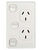 VERTICAL WALL OUTLET 10A WITH EXTRA SWITCH