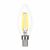 LED FILAMENT CANDLE CLEAR DIMMABLE - VERBATIM