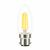 LED FILAMENT CANDLE CLEAR DIMMABLE- VERBATIM